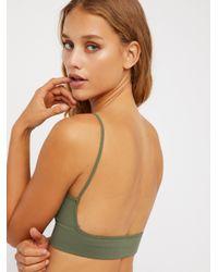 Free People - Green Low Back Bralette - Lyst