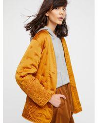 Free People Orange Aces High Liner Jacket