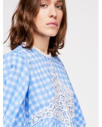 Free People - Blue Moonlight And Rose Mini Dress - Lyst