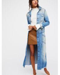 Free People Blue Adler Denim Jacket
