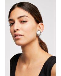 Free People - Metallic Oversized Disc Stud Earrings - Lyst