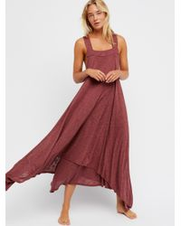 Free People Red Double Trouble Maxi Dress