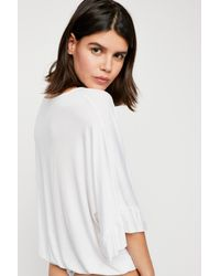 Free People - White Get Low Bodysuit By Intimately - Lyst