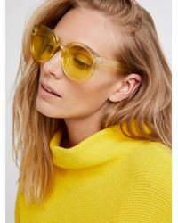 Free People - Multicolor Watercolor Abbey Road Sunglasses - Lyst