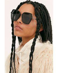 Free People Black Dakota Oversized Sunglasses