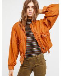 Free People Orange Clothes Jackets & Outerwear Poet Jacket