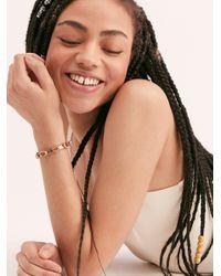 Free People Orange Over The Horizon Cuff Bracelet