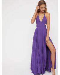 Free People - Purple Lille Maxi Dress - Lyst