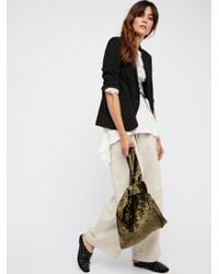 Free People - Green Velveteen Grab Bag - Lyst