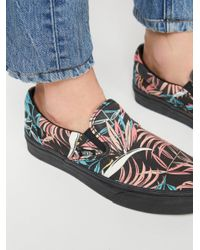 Free People - Black Tropical Classic Slip-on Sneaker - Lyst