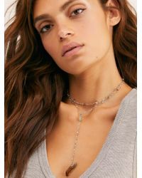 Free People Metallic Lovedust Layer Necklace