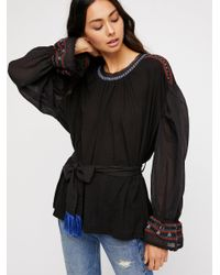 Free People Black Clothes Tops & Tees Blouses On Holiday Top