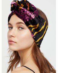 Free People - Multicolor Burnout Velvet Wire Turban - Lyst