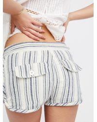 Free People - Multicolor Night Moves Striped Short - Lyst