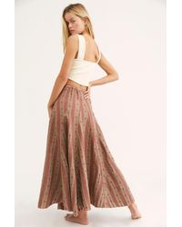 Free People Lily Linen Jacquard Maxi Skirt By Cp Shades In