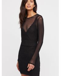 Free People - Black Clothes Dresses Bodycon Dresses Jeanne Twofer Bodycon - Lyst