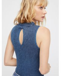 Free People Blue Intimates All Intimates No Looking Back Washed Cami