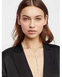 Free People - Brown Winnie Raw Stone Delicate Bolo - Lyst