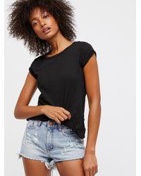 Free People Blue Clothes Jeans Cutoffs High Waist Bonita Short