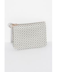 Free People - White Polly Perforated Clutch - Lyst