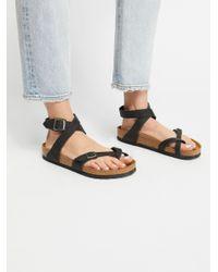 Free People Black Yara Leather Sandals