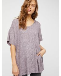 Free People - Purple Bunny Cuddles Tee Bunny Cuddles Jogger - Lyst