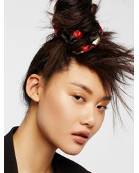 Free People - Accessories Hair Accessories Hair Ties & Headbands Embroidered Scrunchie - Lyst