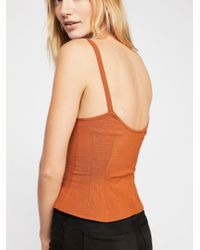 Free People - Orange High Point Tank By Intimately - Lyst