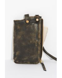 Free People - Black Leather Iphone Wallet - Lyst