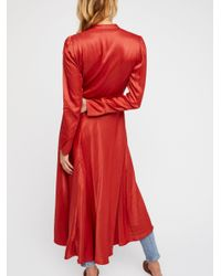 Free People Red Marilyn Duster