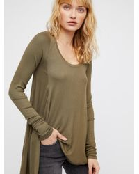 Free People - Green Clothes Tops & Tees January Tee - Lyst
