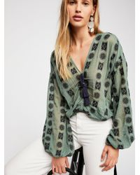Free People Multicolor You And Me Embroidered Top