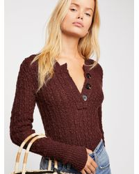 Free People Brown All My Friends Henley