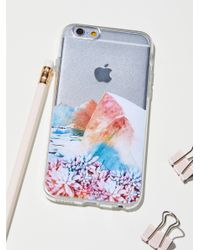 Free People - Blue Technicolor Iphone Case - Lyst