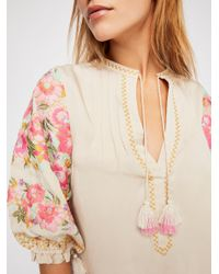 Free People - Multicolor Cleo Tunic Dress - Lyst
