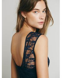 Free People - Blue French Courtship Slip - Lyst