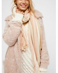 Free People | Natural Kolby Striped Fringe Scarf | Lyst