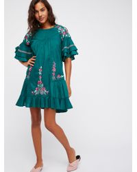 Free People - Multicolor Pavlo Mini Dress - Lyst