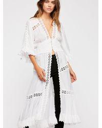 Free People White Dream Catcher Kimono