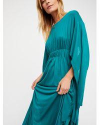 Free People - Green Fantasy Maxi Dress - Lyst