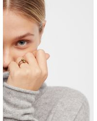 Free People - Multicolor Raw Stone Ring - Lyst