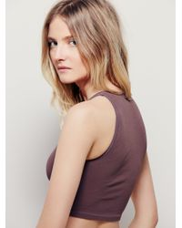 Free People - Brown Strapped Brami - Lyst