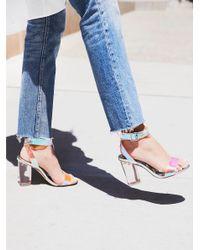 Free People Blue Shoes Heels & Wedges Glass Slipper Heel