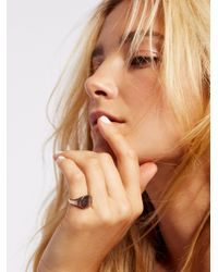 Free People   Metallic Clean Signet Ring   Lyst