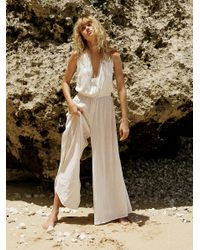 Free People White Really Lovely Jumpsuit