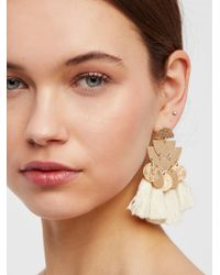 Free People - Yellow Pecos Tassel Earring - Lyst
