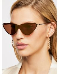 Free People - Metallic Heat Wave Sunglasses - Lyst