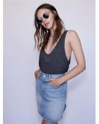 Free People - Blue The Everyday Skirt - Lyst