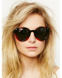 Free People | Brown Abbey Road Sunglasses | Lyst