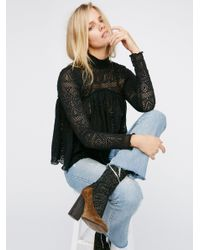 Free People | Black About Time Top | Lyst